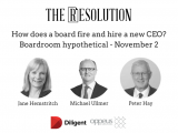 Three directors from ASX Top 50 companies conduct a Hypothetical Board Meeting focused on firing and hiring a CEO